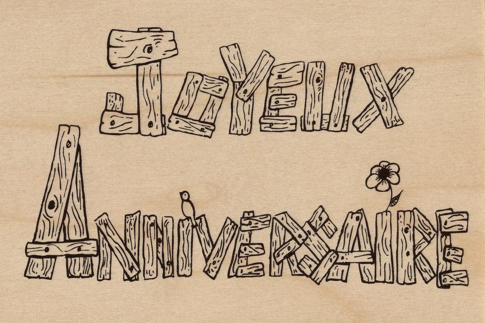 carte postale en bois-joyeux anniversaire-micropanorama