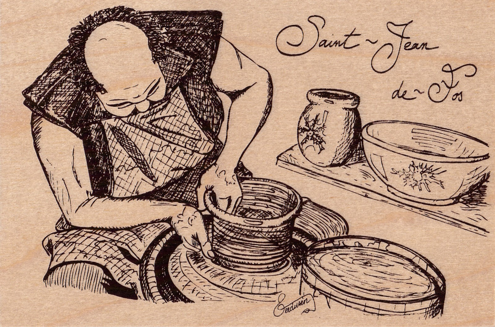 carte postale en bois-potier-micropanorama
