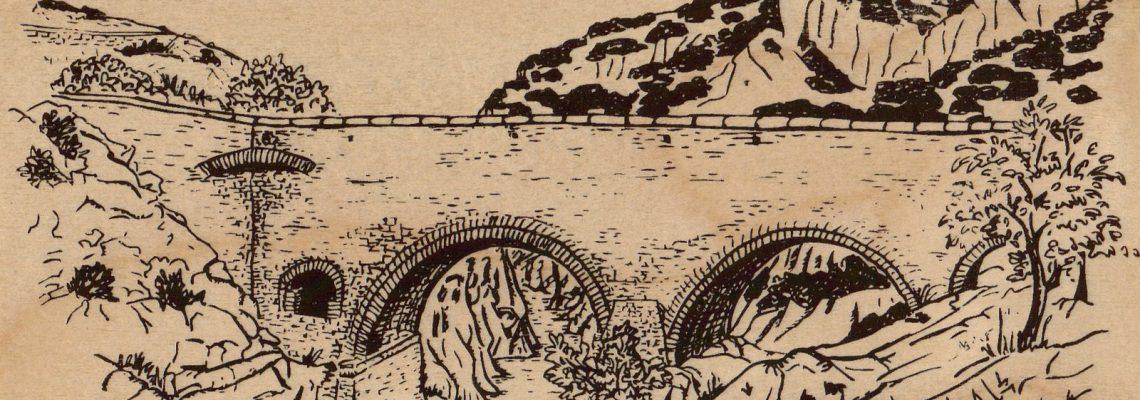 pont du diable-carte postale en bois-micropanorama